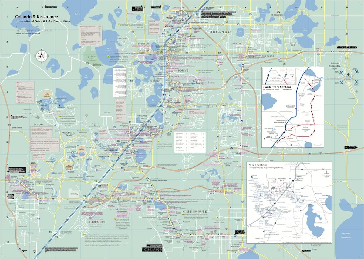 Orlando map side 1