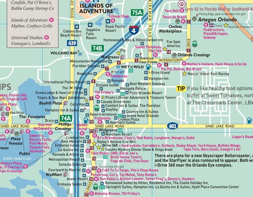 Orlando Main Map extract